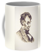 Abraham Lincoln Head Bowed  Drawing 1910 Coffee Mug