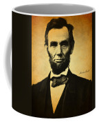 Abraham Lincoln Portrait And Signature Coffee Mug