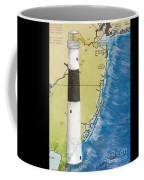 Absecon Lighthouse Nj Nautical Chart Map Art Cathy Peek Coffee Mug
