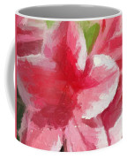 Abstract 106 Pink Painterly Flowers Coffee Mug