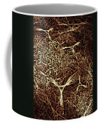 Abstract Angels Woodcut Coffee Mug