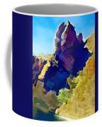 Abstract Arizona Mountain Peak In Autumn Coffee Mug