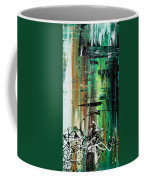 Abstract Art Colorful Original Painting Green Valley By Madart Coffee Mug