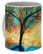 Abstract Art Contemporary Painting Summer Blooms By Madart Coffee Mug