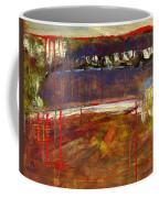 Abstract Art Landscape Coffee Mug by Blenda Studio