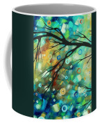 Abstract Art Landscape Circles Painting A Secret Place 2 By Madart Coffee Mug