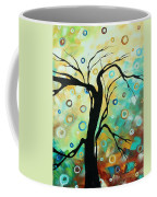 Abstract Art Landscape Circles Painting A Secret Place 3 By Madart Coffee Mug