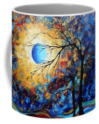 Abstract Art Landscape Metallic Gold Textured Painting Eye Of The Universe By Madart Coffee Mug