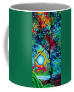 Abstract Art Landscape Tree Blossoms Sea Painting Under The Light Of The Moon I  By Madart Coffee Mug