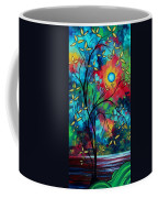 Abstract Art Landscape Tree Blossoms Sea Painting Under The Light Of The Moon II By Madart Coffee Mug