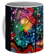 Abstract Art Landscape Tree Painting Brilliance In The Sky Madart Coffee Mug