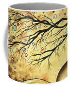 Abstract Art Metallic Gold Original Landscape Painting Colorful Diamond Jubilee By Madart Coffee Mug