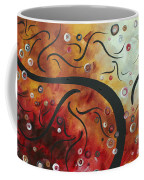 Abstract Art Original Circle Landscape By Madart Coffee Mug