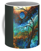 Abstract Art Original Colorful Painting Mystery Of The Moon By Madart Coffee Mug
