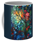 Abstract Art Original Colorful Painting Spring Blossoms By Madart Coffee Mug