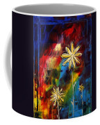 Abstract Art Original Daisy Flower Painting Visual Feast By Madart Coffee Mug by Megan Duncanson