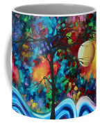 Abstract Art Original Enormous Bold Painting Essence Of The Earth I By Madart Coffee Mug by Megan Duncanson