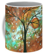 Abstract Art Original Landscape Painting Bold Circle Of Life Design Autumns Eve By Madart Coffee Mug