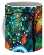 Abstract Art Original Landscape Painting Bold Circle Of Life Design Dance The Night Away By Madart Coffee Mug