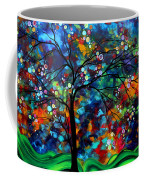 Abstract Art Original Landscape Painting Bold Colorful Design Shimmer In The Sky By Madart Coffee Mug by Megan Duncanson