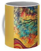 Abstract Art Original Landscape Painting Go Forth I By Madart Studios Coffee Mug