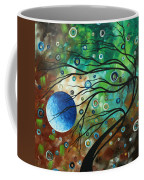 Abstract Art Original Landscape Painting Mint Julep By Madart Coffee Mug