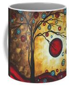 Abstract Art Original Metallic Gold Landscape Painting Freedom Of Joy By Madart Coffee Mug