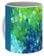 Abstract Art Original Textured Soothing Painting Sea Of Whimsy I By Madart Coffee Mug by Megan Duncanson