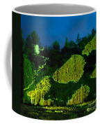 Abstract Art Projection Over Night Nature Scenery Coffee Mug