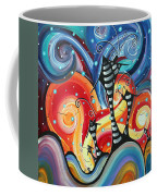 Abstract Art Whimsical Cityscape Funky Houses Homeland By Madart Coffee Mug by Megan Duncanson