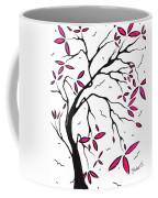 Abstract Artwork Modern Original Landscape Pink Blossom Tree Art Pink Foliage By Madart Coffee Mug by Megan Duncanson
