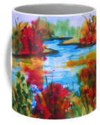 Abstract - Autumn Blaze On Catskill Creek Coffee Mug