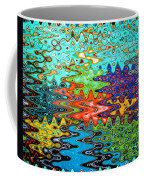 Abstract Background With Bright Colored Waves 1 Coffee Mug