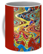 Abstract Background With Bright Colored Waves 17 Coffee Mug