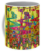 Abstract Background With Bright Colored Waves 5 Coffee Mug