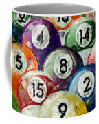 Abstract Billiards Rack Coffee Mug