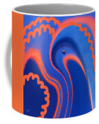 Abstract Blue Bird Coffee Mug