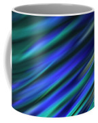 Abstract Blue Green Diagonal Blur Coffee Mug