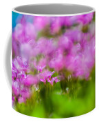 abstract Blurry pink flower background for backgrounds Coffee Mug