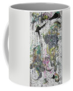 Abstract Calligraphy Art Painting Black Pink Green Gray Art Spring Color Painting Rice Paper Art Sjk Coffee Mug