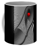 Abstract - Catch The Red Ball Coffee Mug by Mike Savad