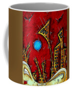 Abstract City Cityscape Art Original Painting Stand Tall By Madart Coffee Mug