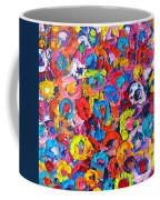 Abstract Colorful Flowers 3 - Paint Joy Series Coffee Mug