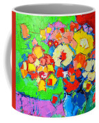 Abstract Colorful Flowers Coffee Mug