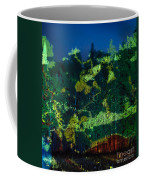 Abstract Colorful Light Projection On Trees Coffee Mug