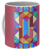 Abstract Colorful Stained Glass Window Design  Coffee Mug
