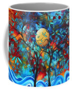 Abstract Contemporary Colorful Landscape Painting Lovers Moon By Madart Coffee Mug