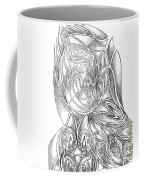 Abstract Drawing Owl Hands Roses Coffee Mug