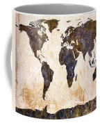 Abstract Earth Map Coffee Mug