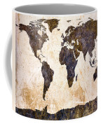 Abstract Earth Map Coffee Mug